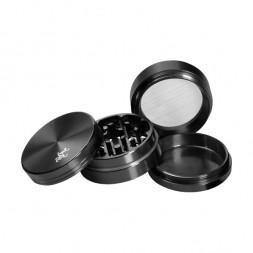 Гриндер Black Leaf - 4-части - черный - 50мм