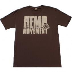Футболка из конопли SATORI Hemp Movement - Chocolate